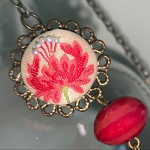 Antique red necklace
